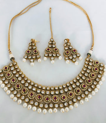 Seneha Earrings, Tikka & Necklace Set