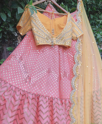 Blush & Banana Lehenga Set