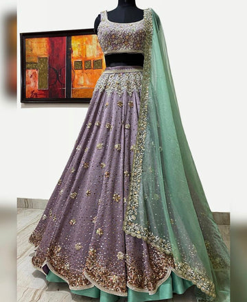 Pastel Purple & Mint Lehenga Set