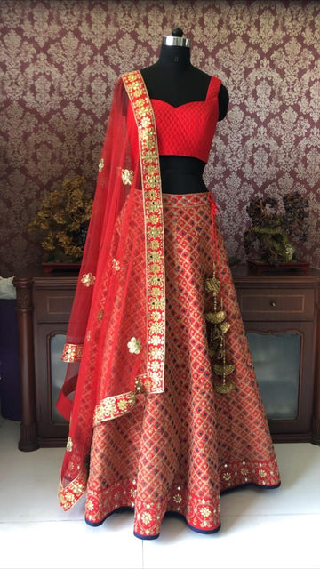 Red Bridal Lehenga - Ready To Ship