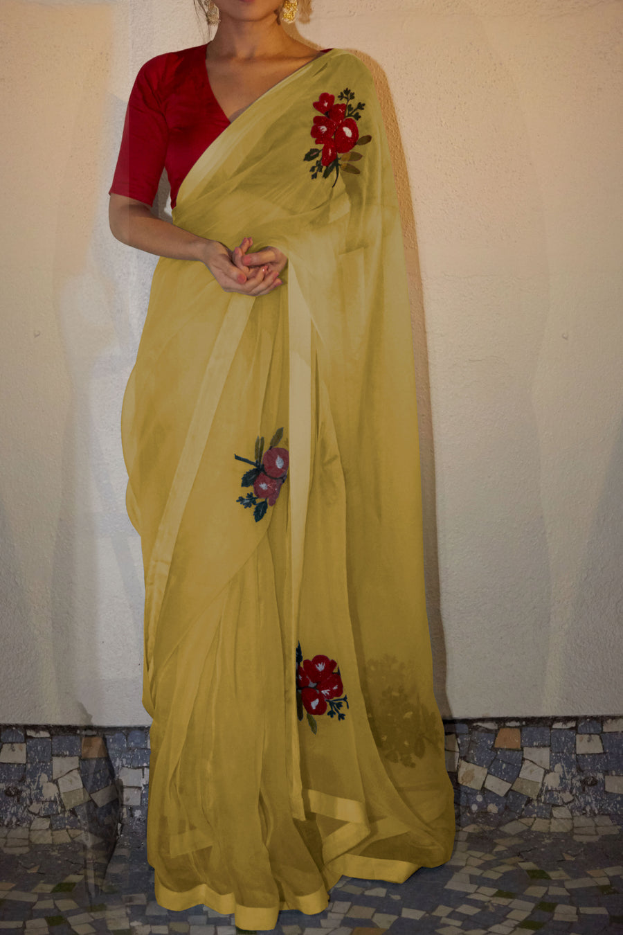 Yellow Gulabh Saree - WaliaJones