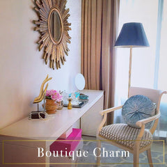 Boutique Charm condo gold regency home styling Decoriia portfolio