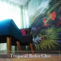 Tropical Boho Chic Jungle exotic home styling Decoriia portfolio HDB