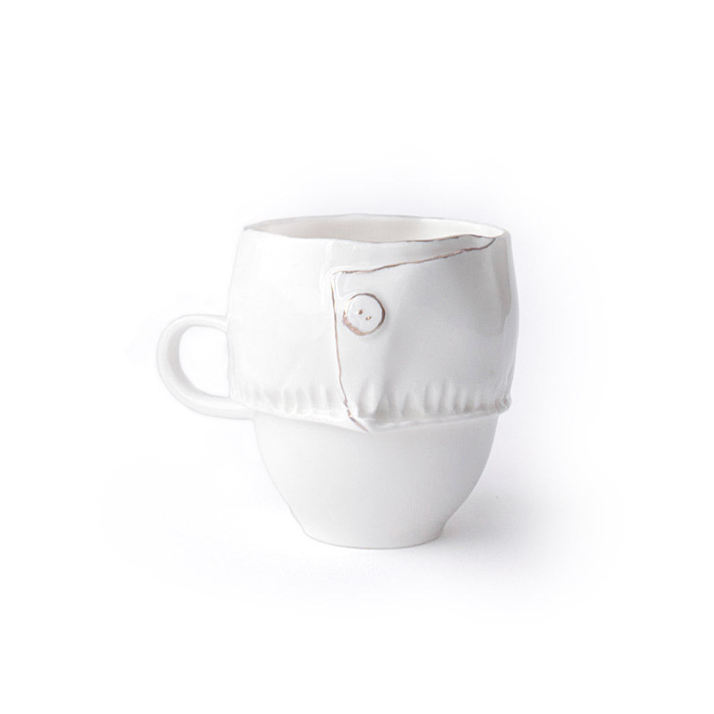 Dressed porcelain espresso cup - Decoriia