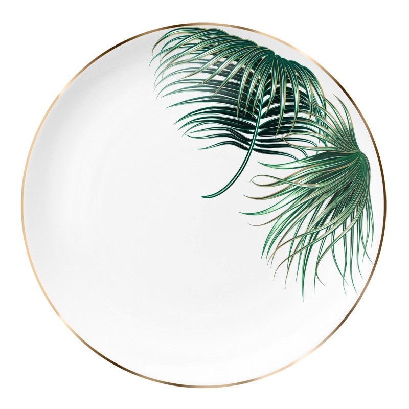 Plate 32cm |  tropical leaf 2 - Decoriia