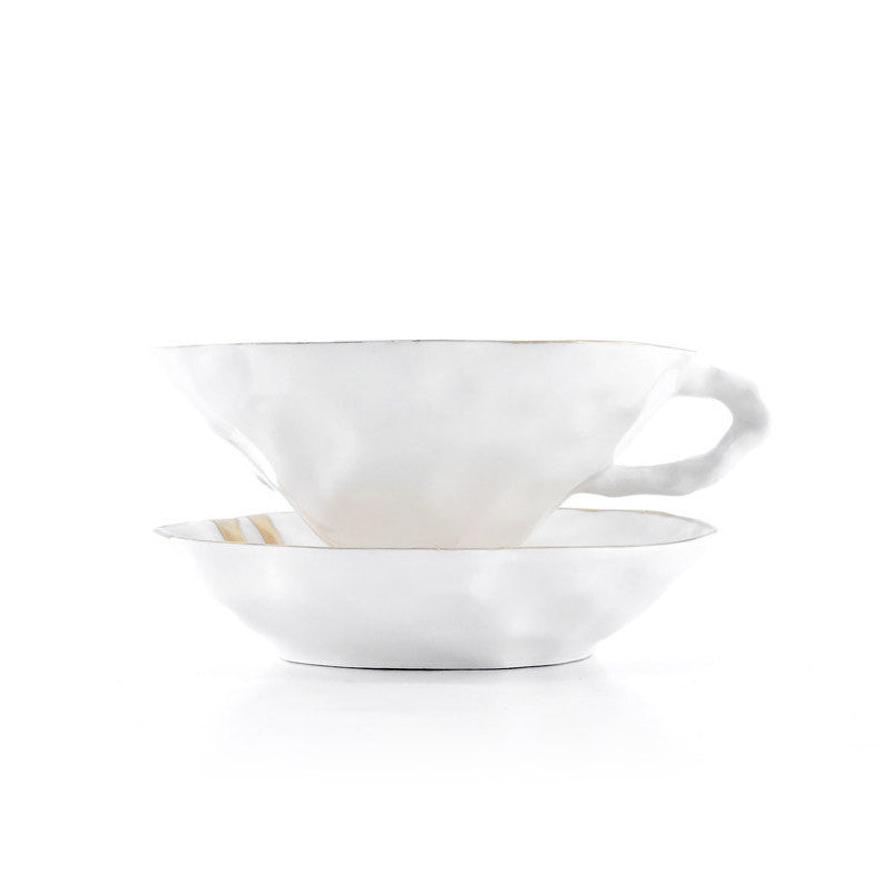 ALICE IN WONDERLAND white cup with saucer - Decoriia