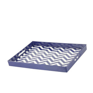 Chevron Blue Tray - Decoriia