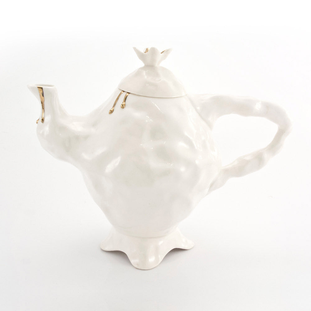 ALICE IN WONDERLAND white tea pot - Decoriia