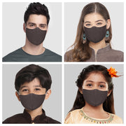 Vastramay Unisex 3 -Ply Self Design Reusable Anti-Pollution Comfortable Half Face, Ear Loop Cotton Welness Mask