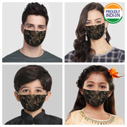 Vastramay Unisex 2 -Ply Camouflage Printed Reusable Anti-Pollution Comfortable Half Face, Ear Loop Cotton Welness Mask