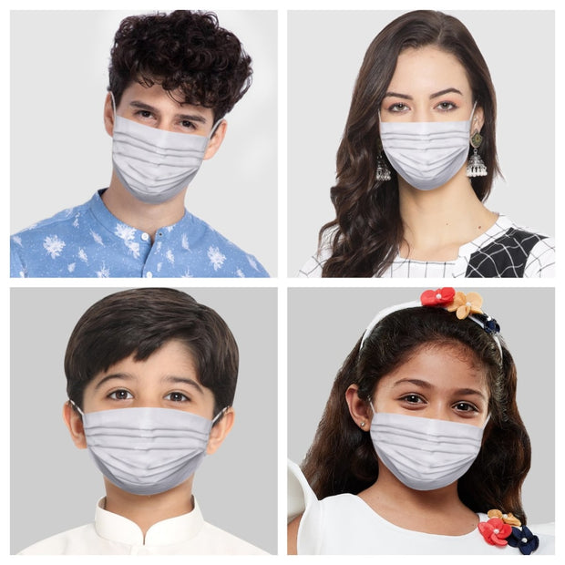 Vastramay Unisex 2 -Ply Solid Reusable Anti-Pollution Comfortable Half Face, Ear Loop Cotton Welness Mask