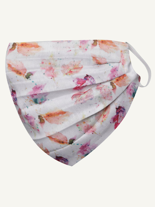 Vastramay Unisex 2 -Ply Floral Printed Reusable Anti-Pollution Comfortable Half Face, Ear Loop Cotton Welness Mask