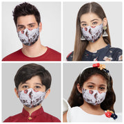 Vastramay Unisex 3 -Ply Floral Printed Reusable Anti-Pollution Comfortable Half Face, Ear Loop Cotton Welness Mask