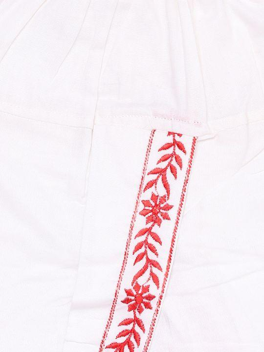JBN Creation Boys' White and Maroon Pure Cotton Kurta and Dhoti Pant Set