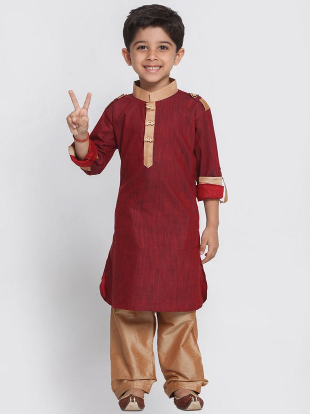 Maroon pathani suit promotes a royal appearance