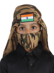 JBN Creation Unisex 2-Ply Camouflage Reusable, Ear Loop Cotton Narendra Modi Style Mask and Scarf Combo