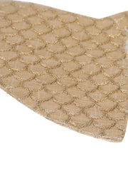 Vastramay Unisex 3 -Ply Fish Scales Embroidered Reusable Anti-Pollution, Comfortable Large Coverage with Head Band Wellness Masks in Gold - Pack of 1