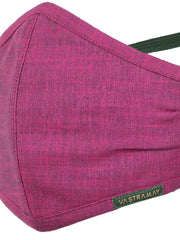 Vastramay Unisex 3 -Ply Solid Reusable Anti-Pollution, Comfortable Large Coverage with Head Band Wellness Biker Masks in Magenta - Pack of 1