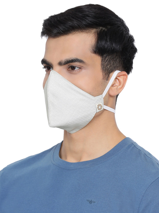 Vastramay Unisex 3 -Ply Self Design Reusable Anti-Pollution, Comfortable Large Coverage with Head Band Wellness Masks in Green - Pack of 1