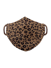 Vastramay Unisex 2-Ply Animal Printed Reusable Free Size Comfortable, Ear Loop Wellness Masks in Leopard Brown - Pack of 1