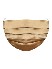 Vastramay Unisex 2-Ply Solid Reusable Free Size Comfortable, Ear Loop Wellness Masks in Gold - Pack of 1