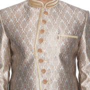 Men's Gold Cotton Silk Blend Sherwani Set