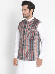 Men's Grey Silk Blend Ethnic Jacket