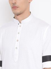 Men's White Cotton Kurta