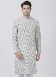 Men's White Pure Cotton Kurta