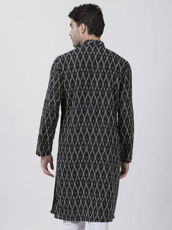 Men's Black Pure Cotton Kurta