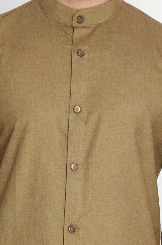 Men's Brown Cotton Kurta