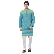 Men's Blue Pure Cotton Kurta