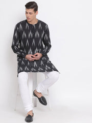 Men's Black Cotton Kurta and Pyjama Set