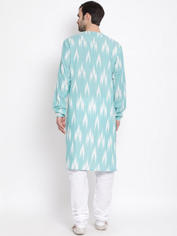 Men's Green Cotton Kurta and Pyjama Set