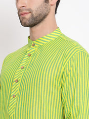 Men's Green Pure Cotton Kurta and Pyjama Set
