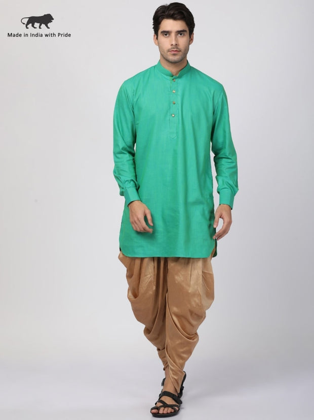 green kurta and dhoti