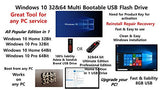 Windows 10 32 & 64Bit Installation Multi Bootable USB Flash Drive All Edition in 1 Re-install Repair - Windows Password Reset