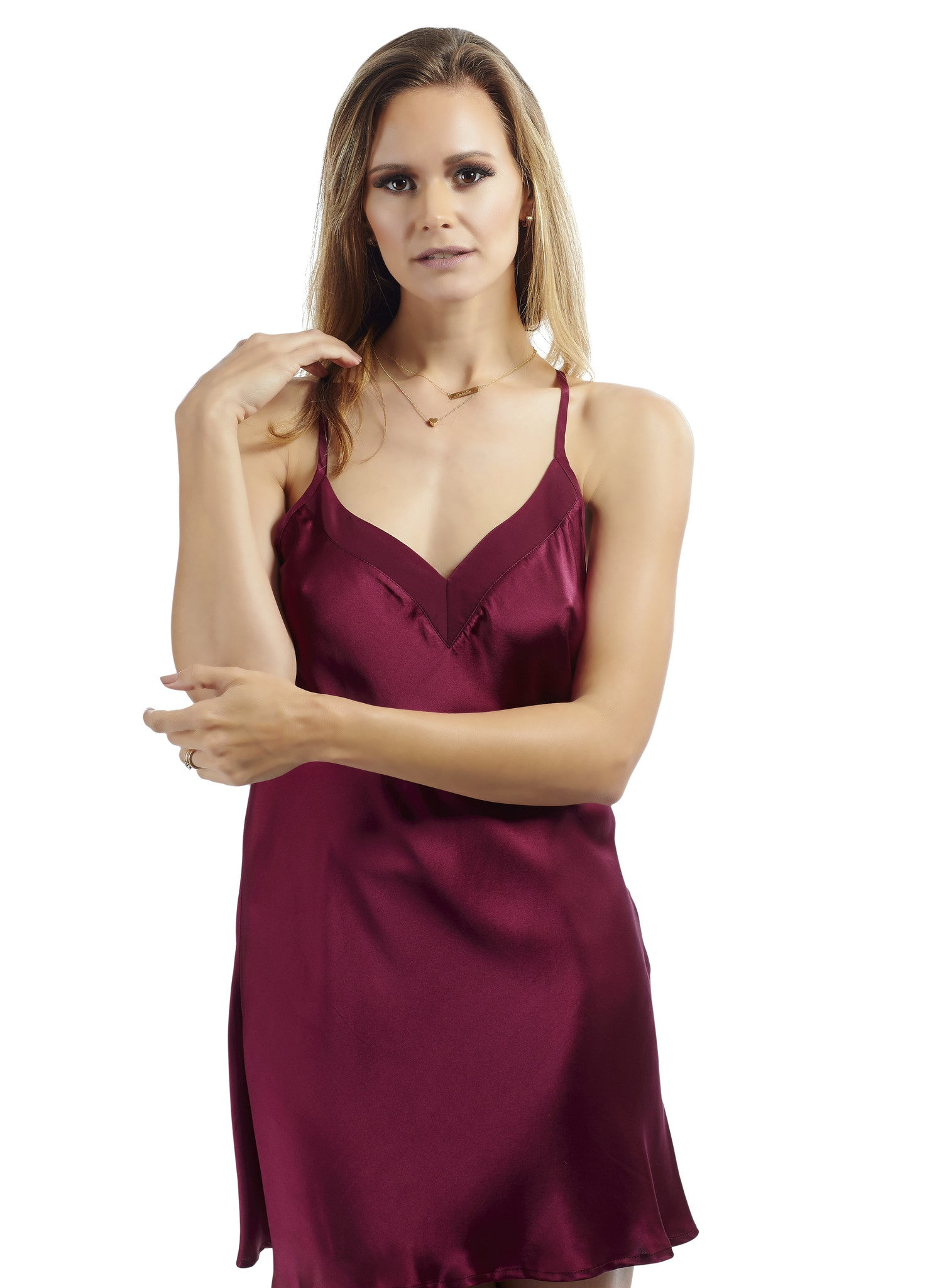 Silk Slip with Italian Lace