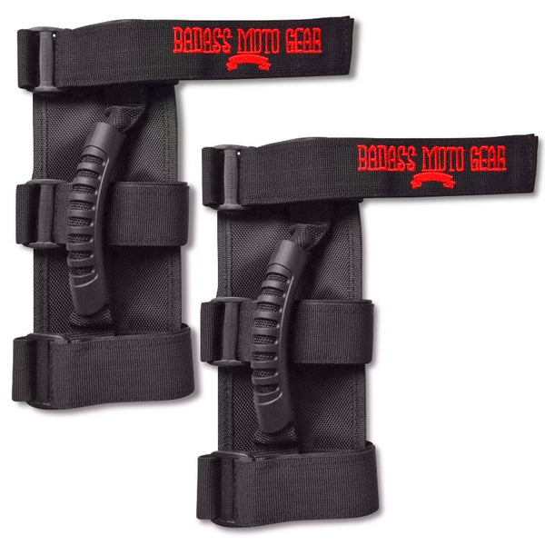 Badass Moto Gear Heavy Duty Grab Handle Set for Jeep Wrangler Roll Bars, 2-Pack - Badass Moto Gear