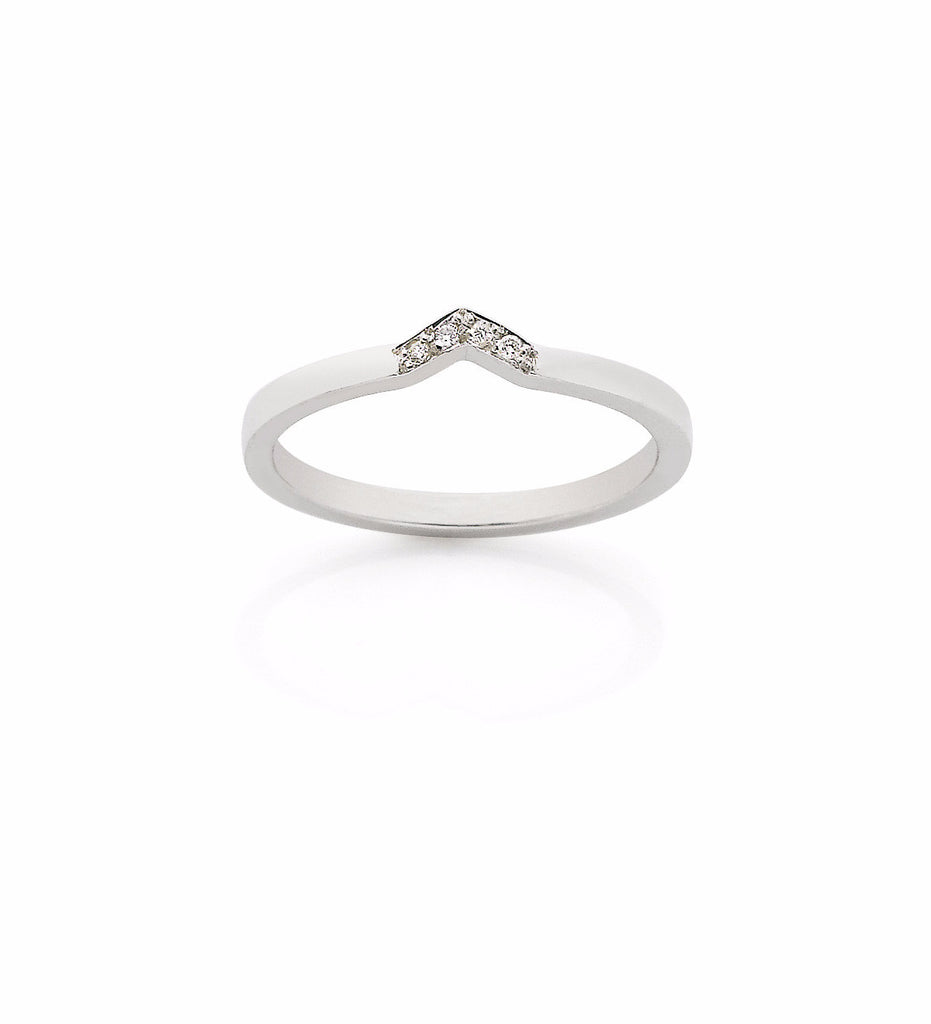 Arrow Band White Diamond / Silver