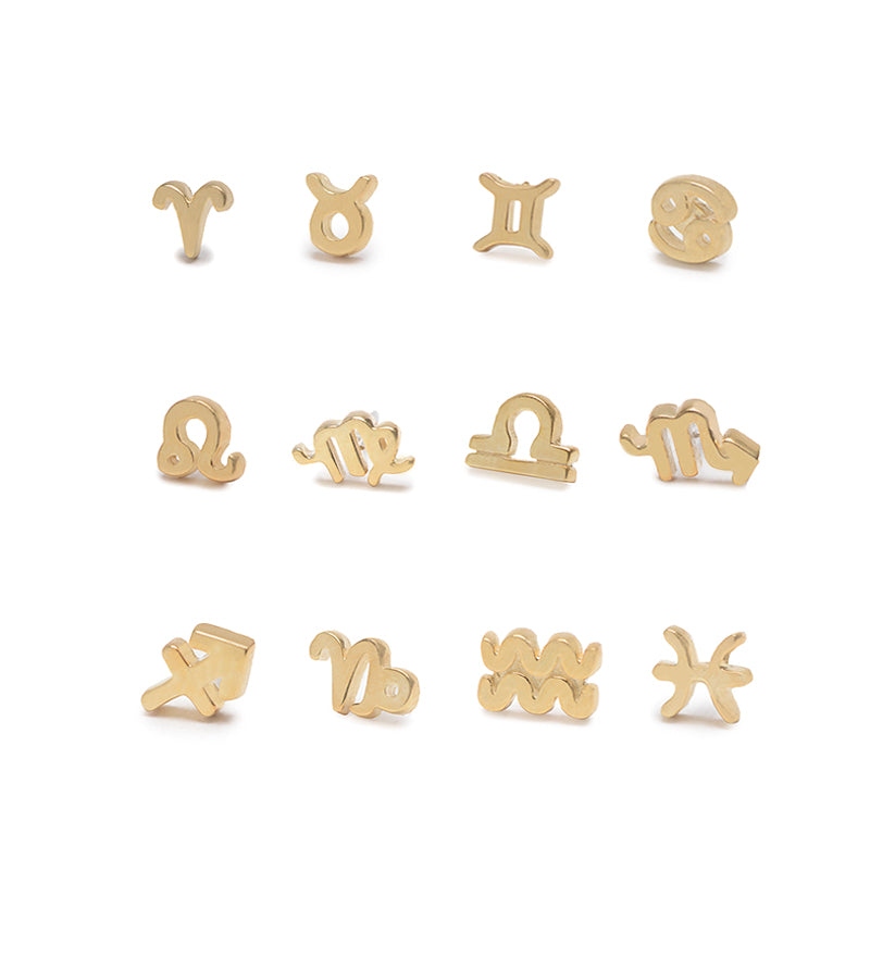 Tiny Zodiac Stud / Gold