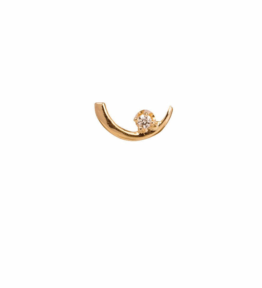 Arc Lineage Earring White Diamond / Gold