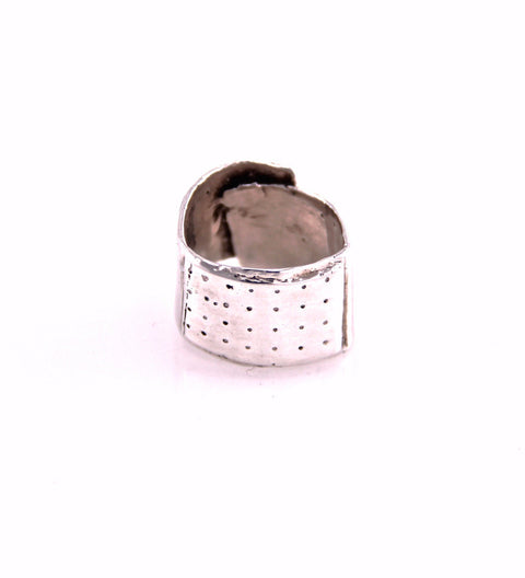 Mini Bandaid Ring (F) / Silver