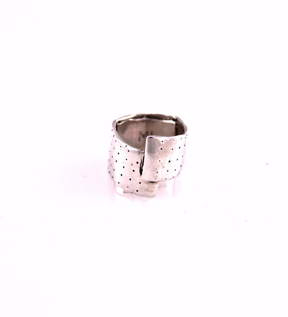 Mini Bandaid Ring (B) / Silver