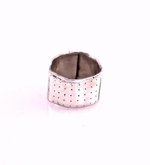 Mini Bandaid Ring (D) / Silver