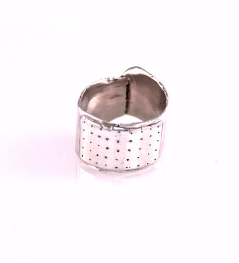 Mini Bandaid Ring (G) / Silver