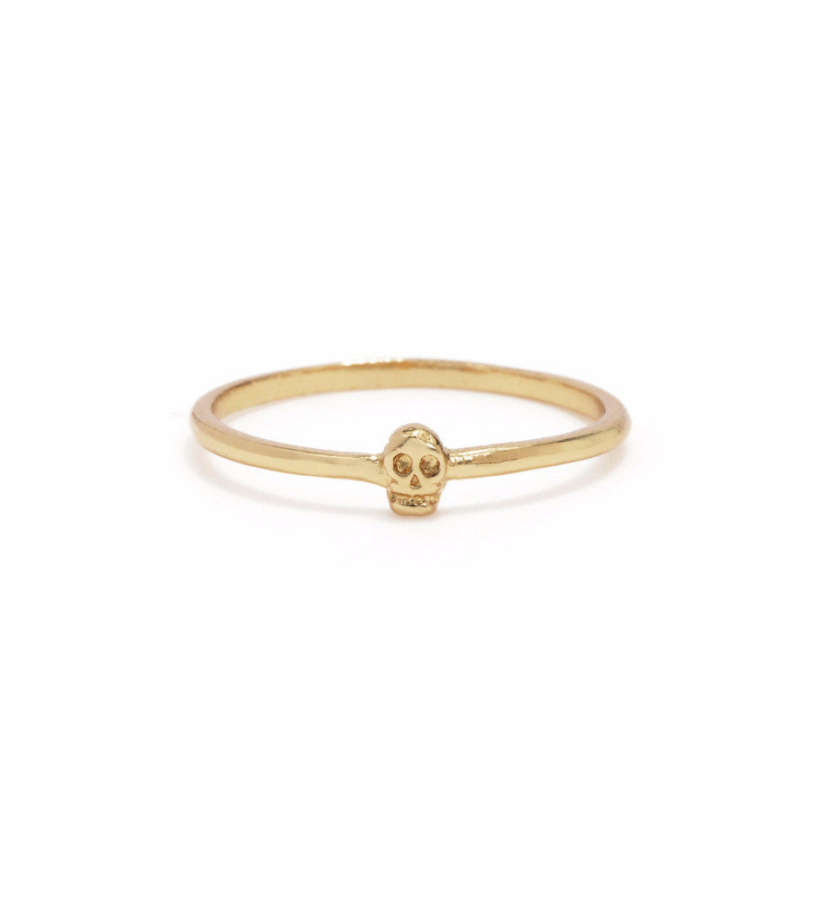 Tiny Skull Ring / Gold