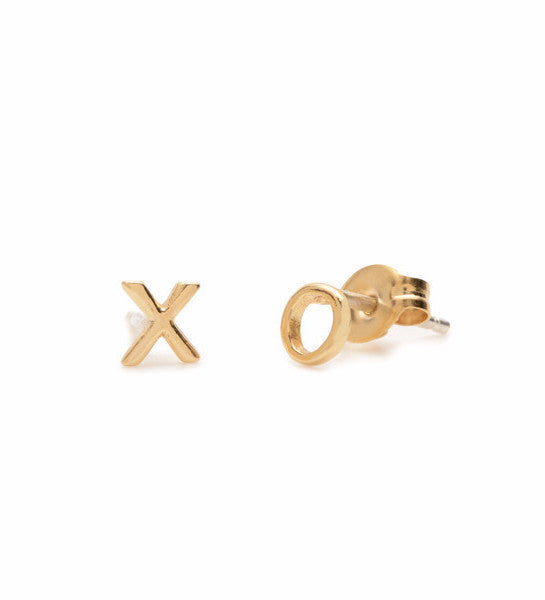 Tiny XO Studs / Gold