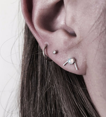 Narcissus Studs / Silver