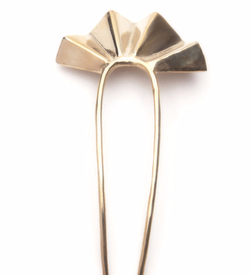 Fan Hair Pin / Brass
